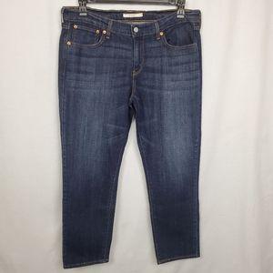 Levi's sz 31 Dark distressed boyfriend jeans
